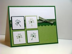 Inside Sentiment...May your blessings outnumber the  shamrocks that grow and may trouble avoid you wherever you go.  Stamps: Stampin' Up Every Little Bit  By:joyfulcreationswithkim.