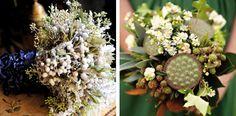 Bouquet bacche e Bouquet con fiori secchi, margherite e more