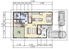 30坪4LDKパントリー収納のある間取り図   理想の間取り Floor Plans, House Floor Plans
