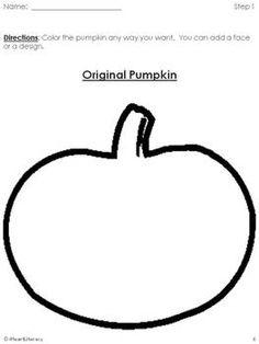 {Free} Pumpkin Design - A Following Directions Activity