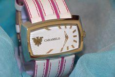 Reloj unisex CARAMELO de diseño mitad de precio. por PetraCool