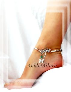 Me n My Shadow Butterfly Anklet Dragonfly Ankle by AnkletAllure