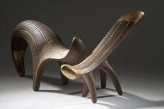 Istvan Hollo's ceramic sculptures 2013. handbuilt chamotte stoneware, engobe, tinsel.