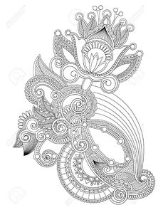 new paisley line drawings - Google Search