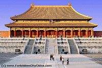 Forbidden City, my aunt called me while she was there... so jealous