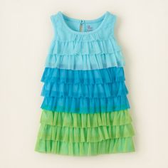 baby girl - dresses & rompers - ombre mesh tiered dress | Children's Clothing | Kids Clothes | The Children's Place