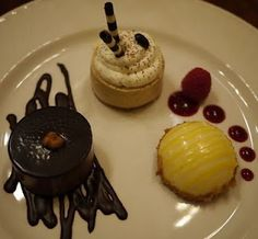 Our beautiful dessert at the Disney Yacht Club Resort.
