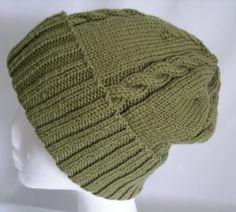 Green Wool Cap Hat  Winter Cap Unisex Green Wool by BaytreeStudio, $45.00