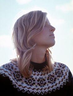 This portrait of Linda McCartney graces her posthumous compilation album, Wide Prairie