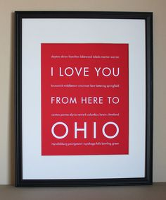 I Love You from here to Ohio
