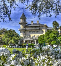 The Jekyll Island Club Hotel in her spring glory!  Photo by David Fisher