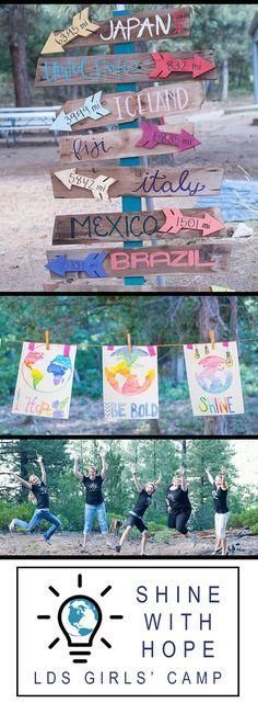 SHINE in the World Girls Camp Theme {LDS Girls Camp}