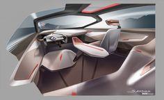 BMW Vision Next 100 Concept Interior Design Sketch Render