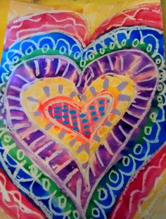 What's Happening in the Art Loft St. Ann School of Cape Ann: First Grade Hearts after Jim Dine Valentines Art Lessons, Valentine Crafts, Valentine Heart, Jim Dine, First Grade Art, Art Loft, Kindergarten Art, Art Lessons Elementary, Art Classroom