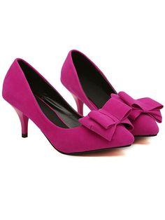 Sweet Bowknot Princess Pink Or Black Heels