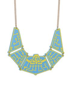 Future Circuit Necklace - Blue, £295: http://www.tattydevine.com/future-circuit-necklace-blue.html
