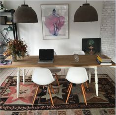 Love everything. Lamps, chairs, desk, carpet