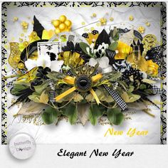 Digital Art :: Kits :: Elegant New Year [Page kit] by butterflydsign Egalement disponible chez Digiscrapbooking  http://www.digiscrapbooking.ch/shop/index.php?main_page=index&manufacturers_id=71