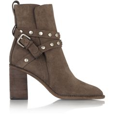 See by Chloé Studded suede ankle boots (7.331.670 IDR) ❤ liked on Polyvore