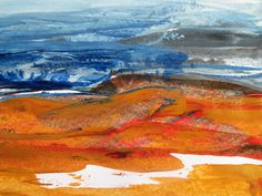 Robyn McGraw, Heat and Light, acrylic on paper