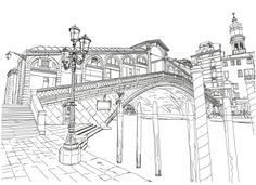 The Rialto Bridge is one of the four bridges spanning the Grand Canal in Venice, Italy. Download, print and start coloring this amazing coloring page, now!