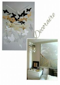 Móviles decorativos #hechoamano #handmade #decoración #decoration #baby #butterfly #mariposa