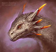 crested lava dragon (adult)