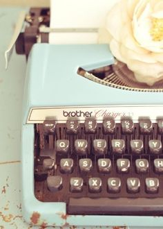 light blue typemachine