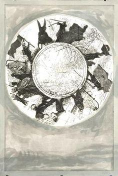 Kentridge, William - Atlas Procession I (Variation) - Art Now / Recent - Mixed technique - Abstract