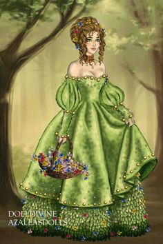 Spring Princess ~ by Inanna ~ created using the LotR Hobbit doll maker | DollDivine.com