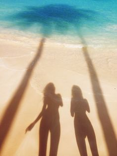Casting shadows and capturing our silhouettes on these long #summer days at the #beach.
