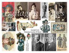 VICTORIAN LADIES MEN digital collage sheet vintage by Lunagirl (Craft Supplies & Tools, Scrapbooking Supplies, Scrapbooking Clip Art, art, collage, mixed media, altered, ephemera, digital, paper, card, tag, antique, women, men, victorian)