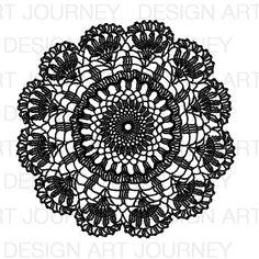 Doily Big Tattoo Pierna, Doodle, Stencils, Mandalas Drawing, Tile Art, Tattoo Inspiration, Doilies, Crochet Earrings, Placemat