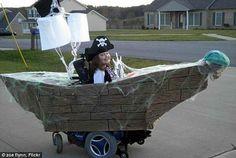 pirate wheelchair halloween costume