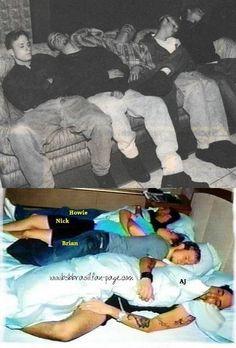 Aww sleeping backstreet boys