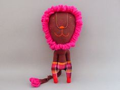 Neon pink LION! | JIPI JIPI via Etsy