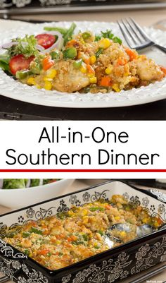 Throw together an all-in-one Southern dinner with just five ingredients! It's comfort food at its best.