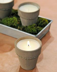 handmade citronella candles