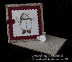 Snow Much fun twisted easel Card by Kirsteen Gill - Cards and Paper Crafts at Splitcoaststampers