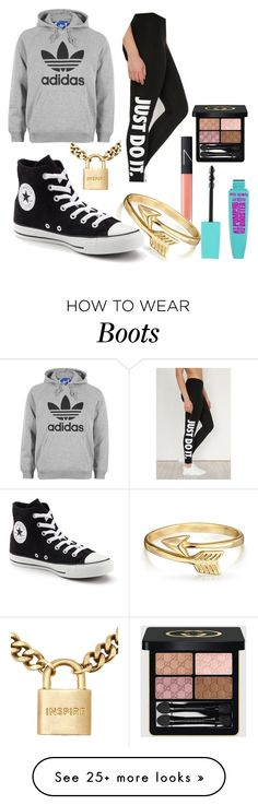 """ville_n°322"" by angelabalboa on Polyvore featuring NIKE, adidas, NARS Cosmetics, The Giving Keys, Bling Jewelry, Converse and Gucci"