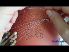 Merletto a tombolo - La Foglia Singola - YouTube