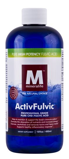 Fulvic acid has recently gained a spotlight for its abilities to aid in the body's absorption and use of minerals, its ability to remove toxins and its ability to act as a powerful antioxidant. Fulvic acid is a supplement that can truly help maintain optimum health!