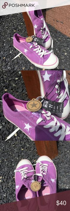 Converse One Star Orchid Sneakers Size 11 New Size 11. Color is called orchid, like a light lavender color. New with tags. Be sure to view the other items in our closet. We offer  women's, Mens and kids items in a variety of sizes. Bundle and save!! We love reasonable offers!! Thank you for viewing our item!! Converse Shoes Sneakers