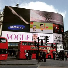 #Billboards and more billboards in London's CBD. #London #Travel #Photography