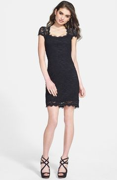 Jump Apparel Cutout Lace Body-Con Dress available at #Nordstrom