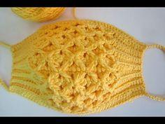 #ถักหน้ากากอนามัย #ถักแมส #ถักผ้าปิดจมูก - YouTube Crochet Bowl, Crochet Mask, Crochet Faces, Knit Crochet, Crochet Edging Patterns, Crochet Diagram, Crochet Stitches, Sewing Patterns, Crochet Skirts