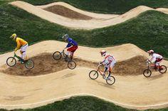 BMX racing, love the tracks! Push Bikes, Bmx Bikes, Bmx Girl, Bmx Racing, Inline Skating, Bike Parking, Mini Bike, Skate Park, Go Kart