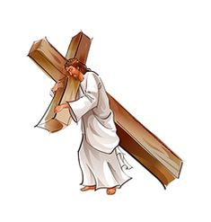 Side view of Jesus Christ holding cross Jesus Christ Drawing, Jesus Christ Statue, Jesus Drawings, Jesus Christ Images, Cross Drawing, Jesus Cartoon, Jesus Photo, Jesus Book, Christ Is Risen
