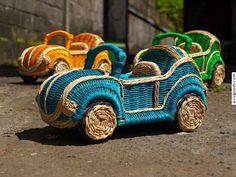 VW beetle Ratan Baskets