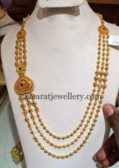 Jewellery Designs: Gold Haram 1.5 Lakhs Only